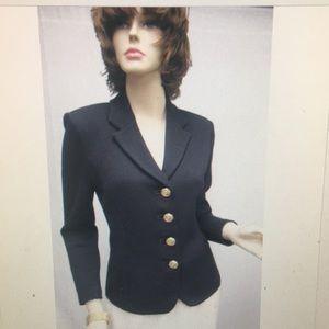 St. John jacket blazer black size 6
